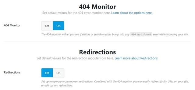 tùy chỉnh 404 và Redirect
