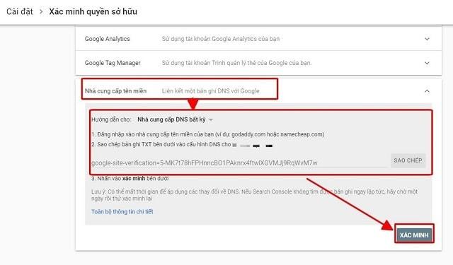 Các cách cài đặt Google webmaster tool