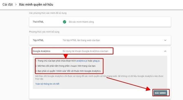 5 cách cài đặt Google Webmaster Tool
