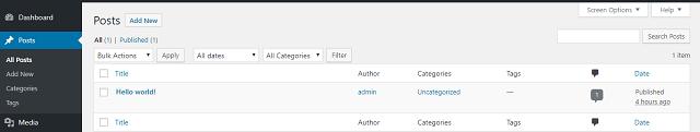 giao diện quản trị WordPress