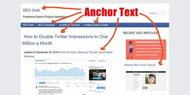 Anchor text là một yếu tố thực sự quan trọng