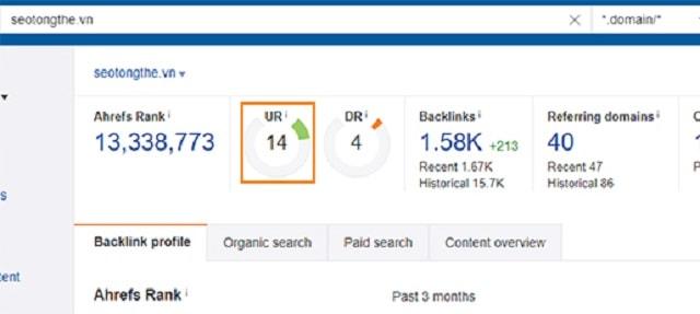 Cách làm tăng chỉ số URL Rating