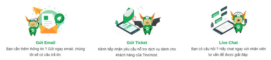 chất lượng hỗ trợ dịch vụ tại Tino Host