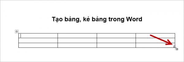 cách thay đổi kích thước bảng trong word