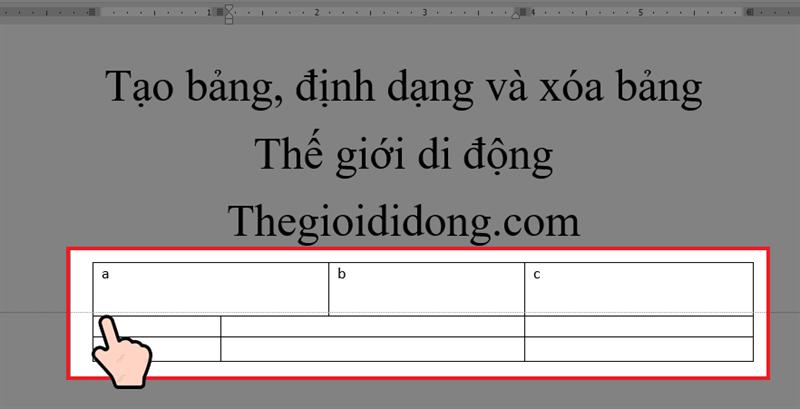 cách thay đổi kích thước hàng của bảng trong word
