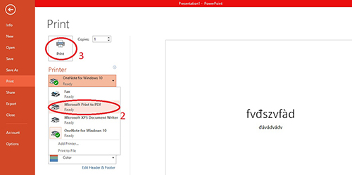 chuyển file power point sang pdf