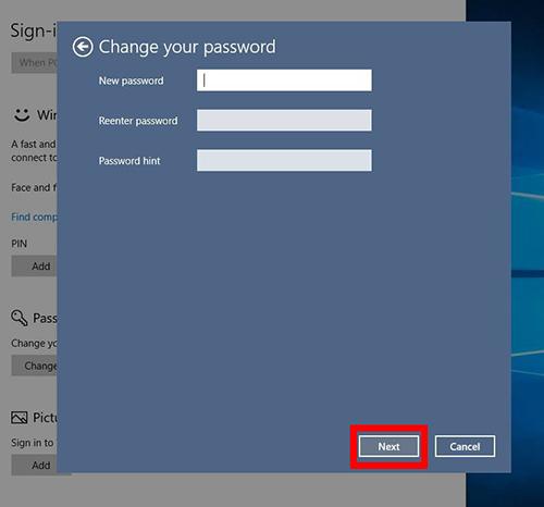 xoá mật khẩu máy tính laptop chưa đăng nhập tài khoản microsoft