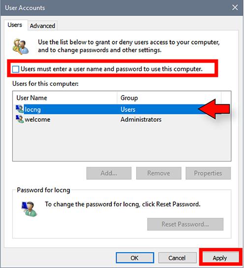 cách xoá mật khẩu máy tính bằng lệnh run