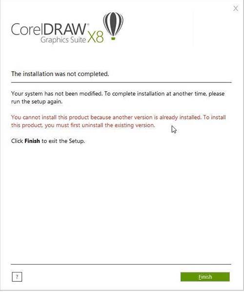 coreldraw-x8-loi-khi-cai-dat