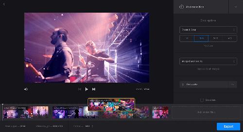 ghép nhạc vào video online bằng clideo