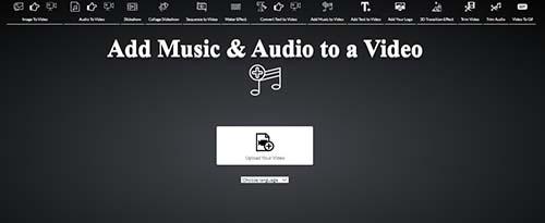 ghép nhạc vào video online với voice2v