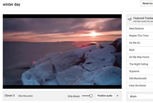 cách ghép nhạc vào video online với youtube
