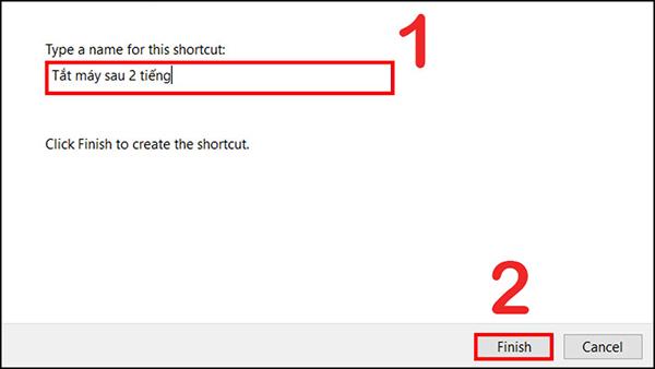 hẹn giờ tắt laptop win 10 bằng shortcut