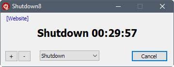 cách hẹn giờ tắt máy win 10 bằng shutdown8