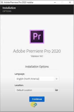 cài đặt phần mềm adobe premiere pro cc 2020