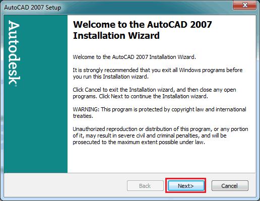 autocad 2007 active
