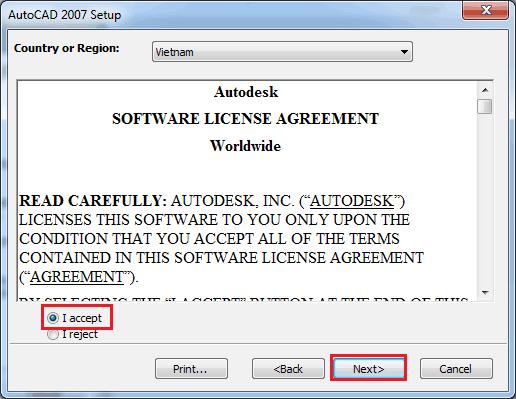cài autocad 2007 64-bit