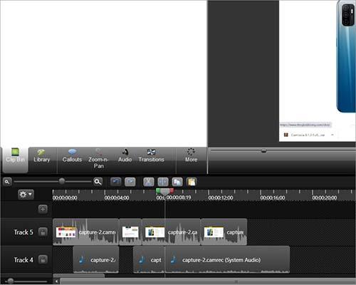 Camtasia Studio cắt ghép video