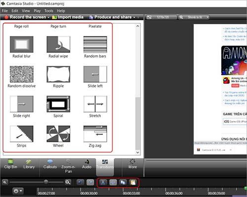 Camtasia Studio chỉnh sửa với đầy đủ công cụ