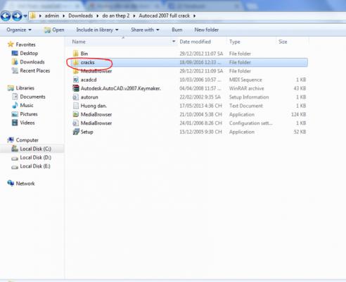 crack phần mềm autocad 2007