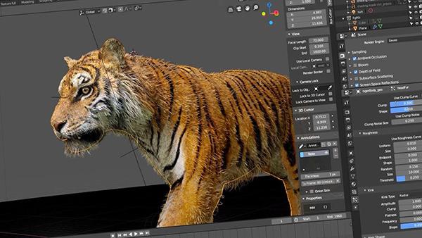 phần mềm thiết kế đồ hoạ 3D Blender 3D
