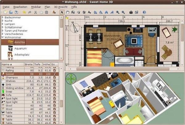 phần mềm thiết kế nhà 3D Sweet Home 3D