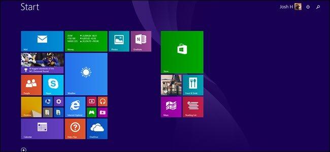 nút Start hệ điều hành Windows 8.1