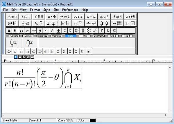 phần mềm MathType