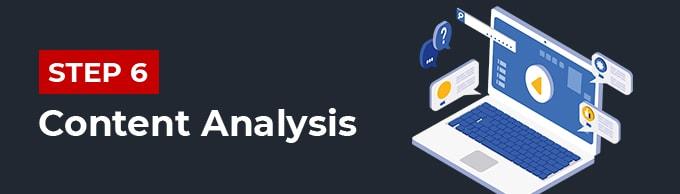 bước 6 phân tích content trong câu hỏi seo audit là gì