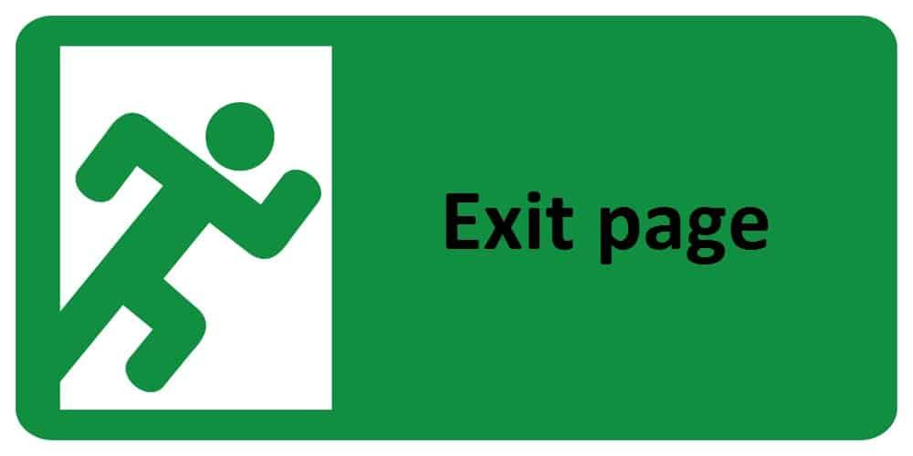 exit page trong câu hỏi seo audit là gì