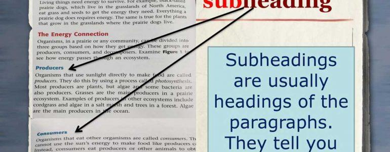 subheading là gì